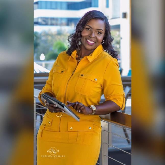 Tiffany Moore Professional Shot Yellow Dress